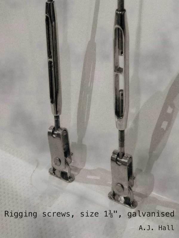 Rigging screws, size 1⅜, galvanised cover